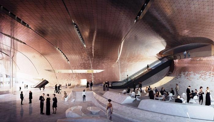 Фантастическая лаунж-зона в проекте нового зала филармонии.
