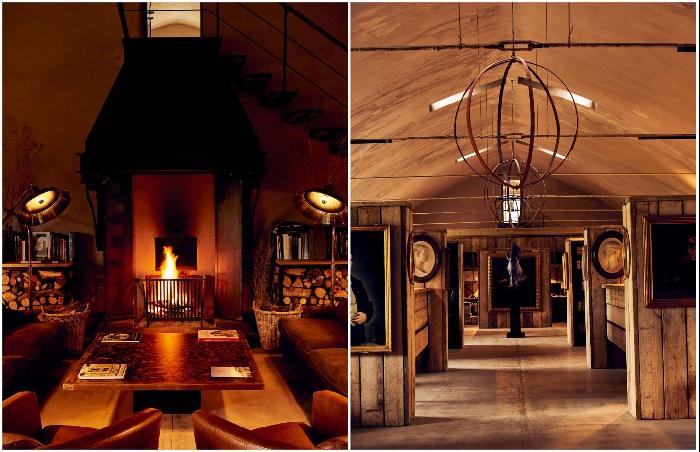 В интерьере отеля постарались воссоздать старинную атмосферу (Castello Di Reschio Hotel, Италия).