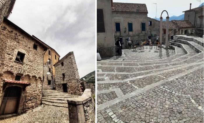 Представленные дизайн-проекты реконструкции зданий должны соответствовать канонам средневековой архитектуры (Maenza, Италия).