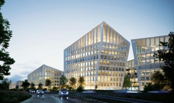 Концепт корпоративного офисного комплекса для Farfetch будет состоять из 7 объектов (концепт Fase Valley). | Фото: celebritynews.fuzzyskunk.com.