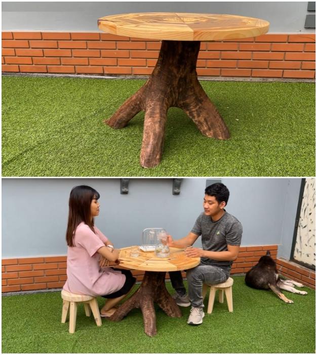 Профессионалы без проблем смогут сделать стол с круглой столешницей.