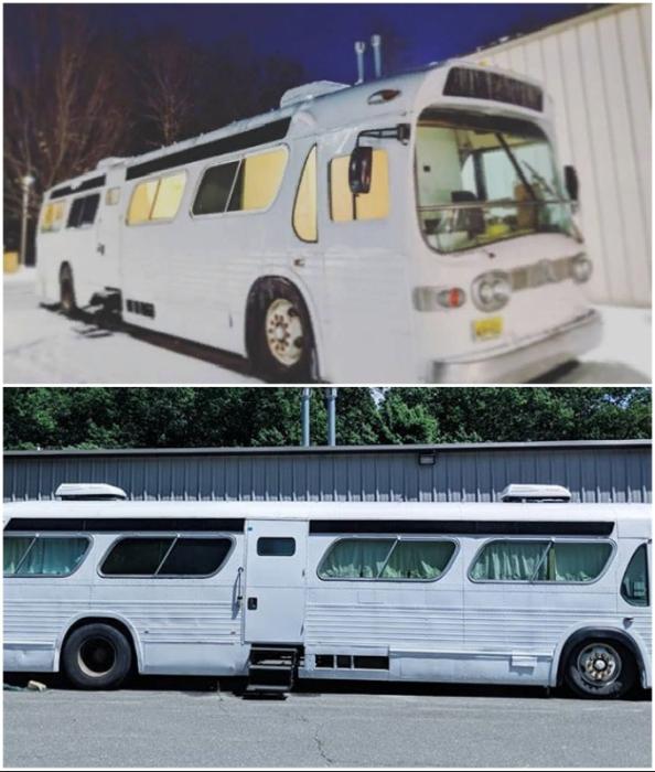 Джесси вместе с подругой самостоятельно перекрасили автобус в белый цвет.
