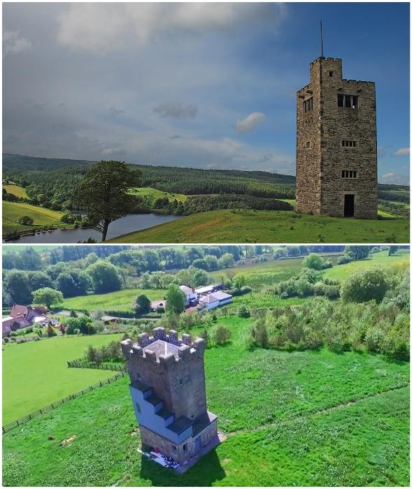 Яркий пример того, как не надо преобразовывать исторические памятники архитектуры (Caldwell Tower, Великобритания).