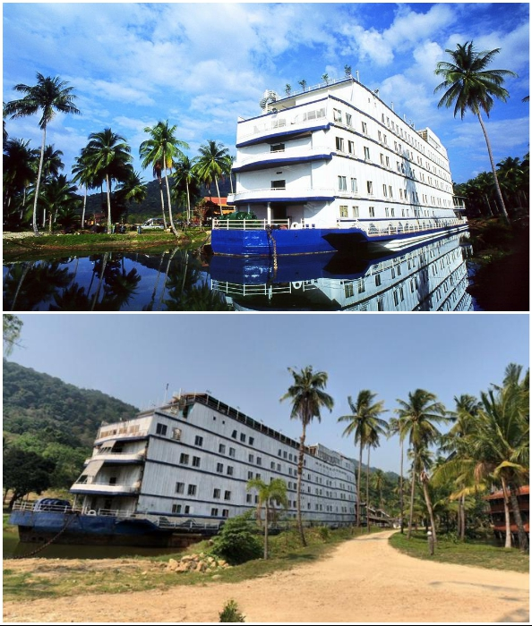 Даже в лучшие времена своего существования отель был мало похож на настоящий лайнер (Grand Lagoona Koh Chang Resort, Таиланд).