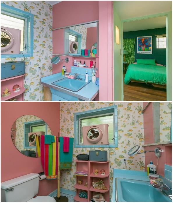 Судя по всему – эта ванная комната создана для девочек (Eisenberg Residence, Балтимор).