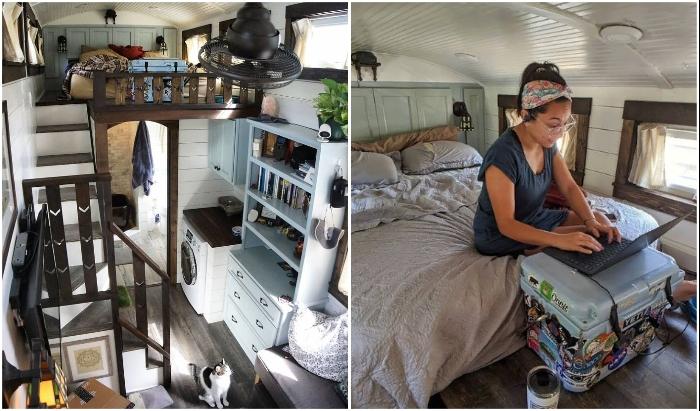 В спальне можно хорошенько выспаться и плодотворно поработать (Tiffany).