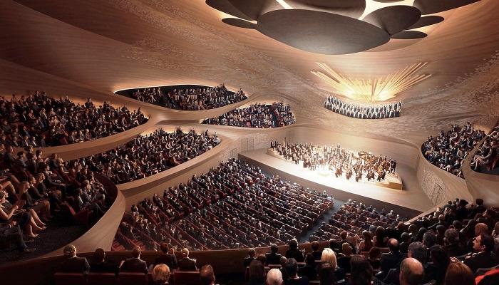 Проект концертного зала Свердловской филармонии.
