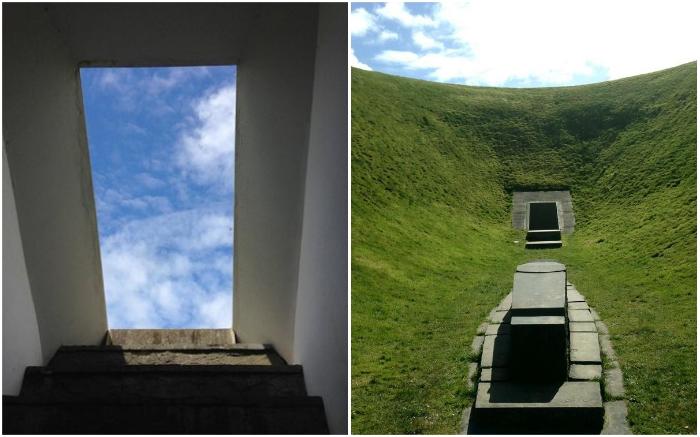 Выход из туннеля символизирует появление на свет (The Irish Sky Garden).