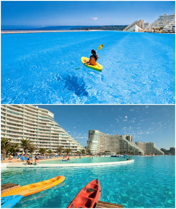 Водные развлечения все же в приоритете (San Alfonso del Mar, Альгарробо).