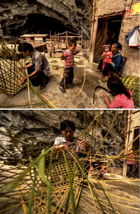 Женщины и дети зарабатывают рукоделием (Чжундун, Китай). | Фото: youtube.com.