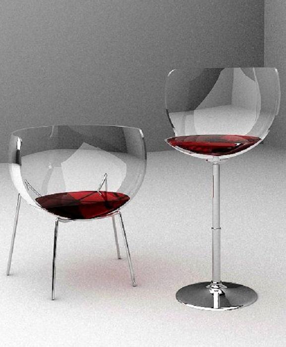 Уютные оригинальные кресла для романтического ужина.