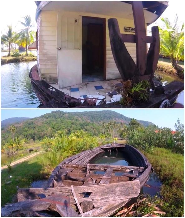 Какими бы ни были причины закрытия курорта, но заброшенность угнетает (Grand Lagoona Koh Chang Resort, Таиланд).