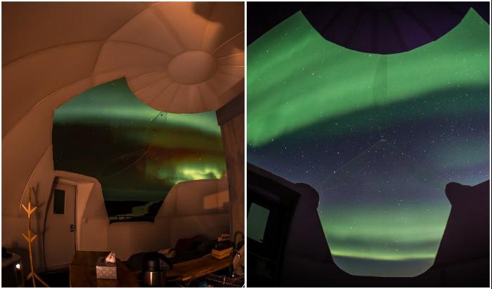 Полярная ночь во всей красе! (вид из отельного номера, Borealis Basecamp).