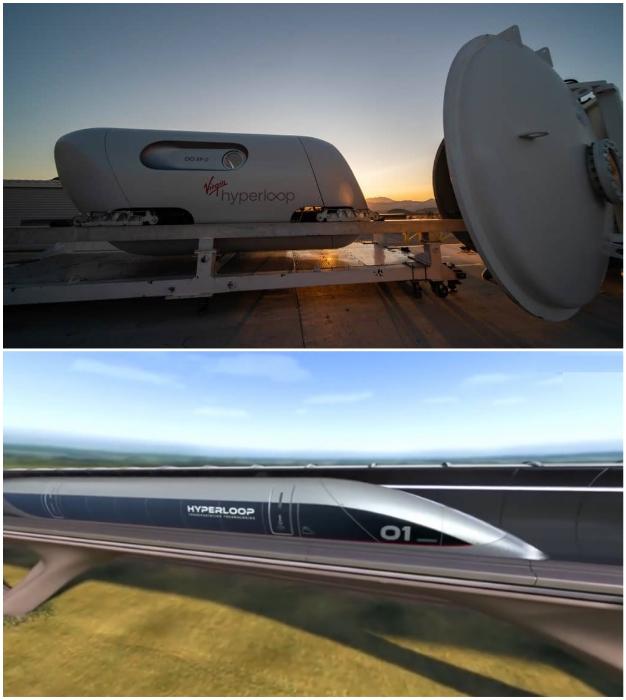 Прототип вагона Virgin Hyperloop уже прошел испытание.