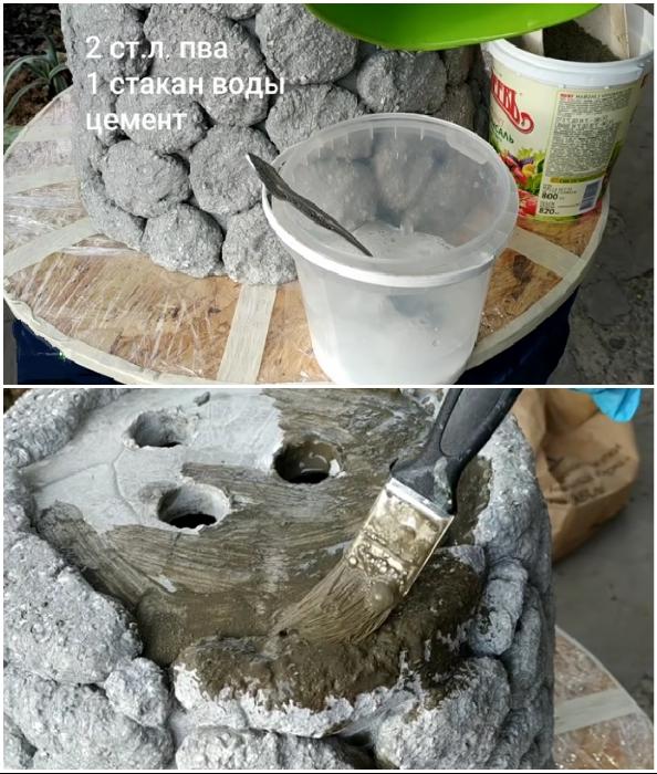Закрепляющий раствор для бетона поможет продлить срок эксплуатации вазона.