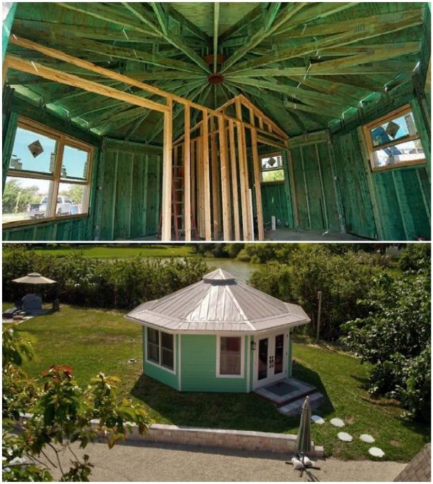 Чтобы противостоять ураганам, был построен дом особенной конструкции.