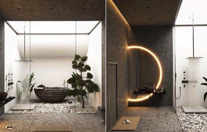 Ванная комната порадует эффектным интерьером и нестандартной сантехникой (концепт Landscape House).