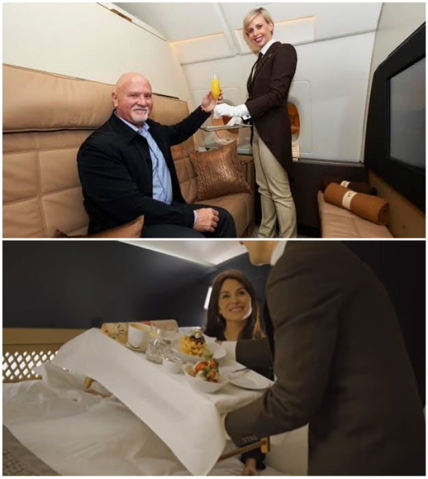Личный дворецкий будет выполнять любое желание гостей The Residence Etihad (Airbus А-380 Etihad).