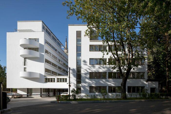 «Дому Наркомфина» удалось вернуть первозданный белый цвет. | Фото: 3dwarehouse.sketchup.com.
