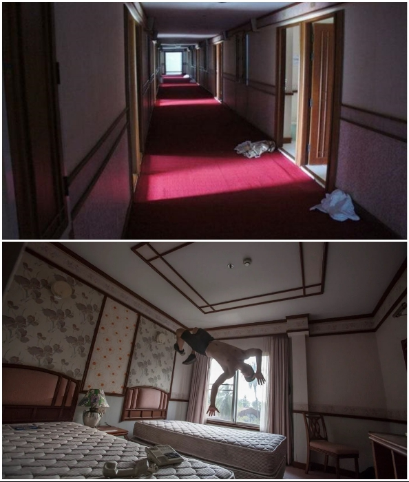 Хотя некоторым экстремалам прогуляться по коридорам и номерам удалось (Grand Lagoona Koh Chang Resort, Таиланд).