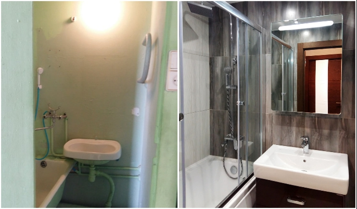 Ремонт в ванной комнате – всегда проблема, но результат порадует.