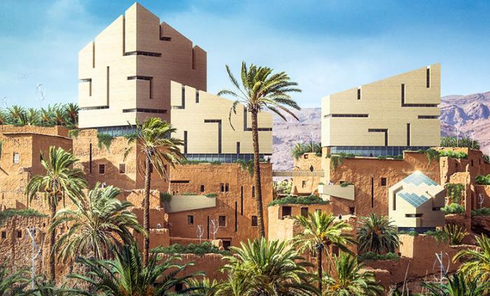 Визуализация на тему осовременивания грязевых домов древних египтян. | Фото: kuaibao.qq.com.