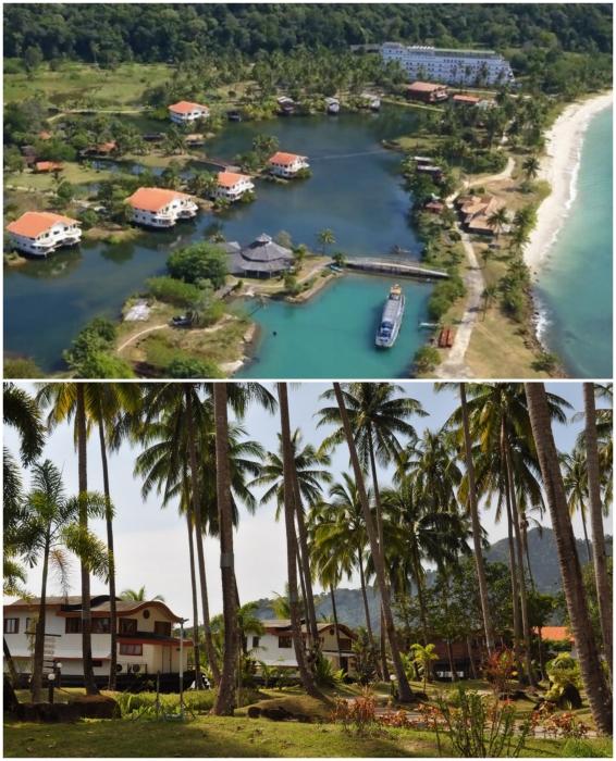 Официально курорт закрыт, но лодки-шале еще сдаются всем желающим (Grand Lagoona Koh Chang Resort, Таиланд).