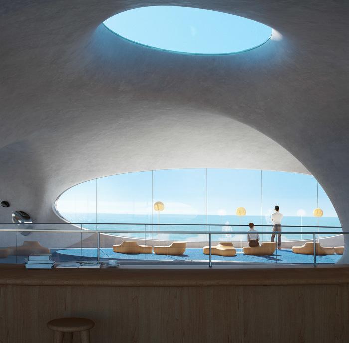 В многофункциональном культурном центре оборудуют залы для общения и кафетерий. | Фото: worldarchitecture.org/ © MAD Architects.