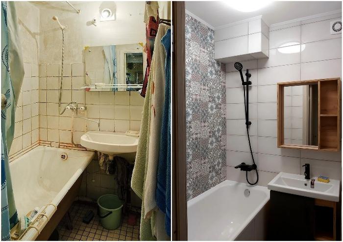 Чтобы обновить ванную комнату, придется избавиться не только от старой сантехники, но и очистить все поверхности.
