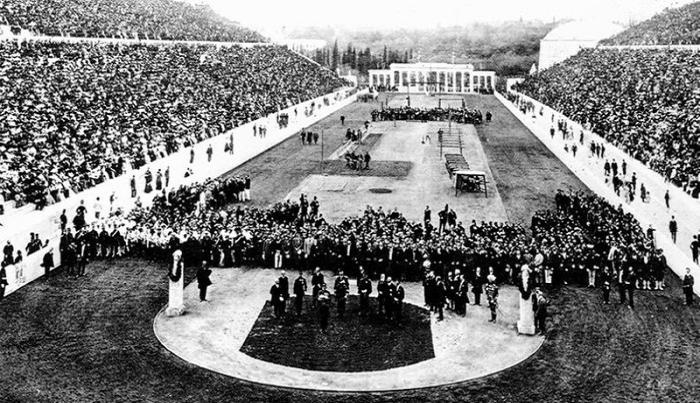 Проведение первых современных Олимпийских игр, состоявшихся в 1896 году.