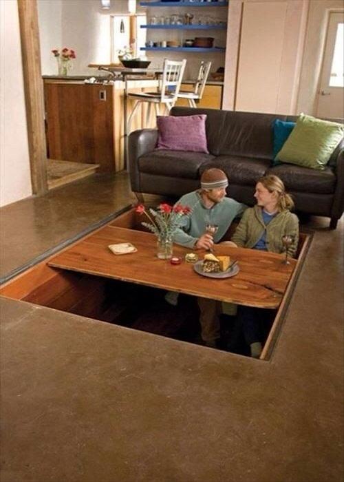 Как скрыть целую столовую.