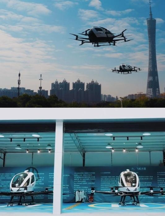 Беспилотные аэромобили eVTOL от компании EHang уже тестируются заказчиками.