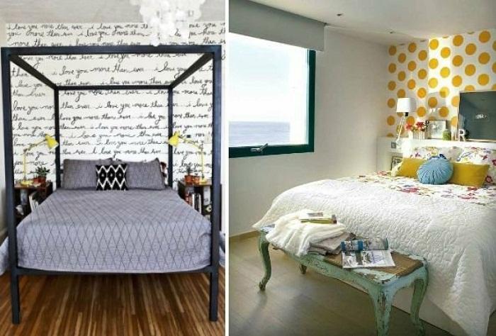 Правильно оформленная акцентная стена поможет создать иллюзию простора. | Фото: legko.com.