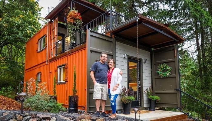 Джейми и Дэйву понадобилось всего 10 месяцев на создание уютного гнездышка. | Фото: livingbiginatinyhouse.com.