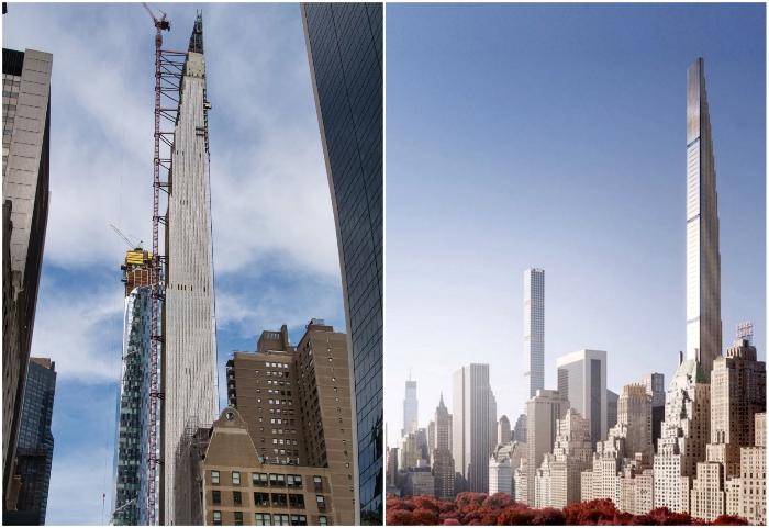 Готовится к сдаче в эксплуатацию небоскреб 111 West 57th Street с самыми дорогими апартаментами в Соединенных Штатах (Нью-Йорк, США).