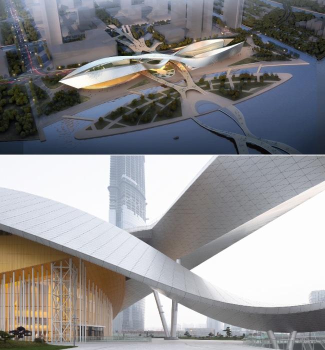 Впечатляющие формы нового Культурного центра предложил французский архитектор Кристиан де Портзампарк. | Фото: mymodernmet.com.