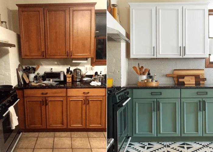 Обновление кухни – бюджетно, современно, стильно. | Фото: dverimassivspb.ru.