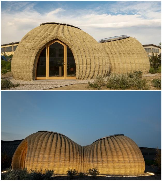 В Италии впервые был напечатан дом, полностью созданный из природных материалов пригодных для вторичной переработки (TECLA).