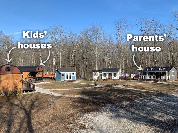 Теперь у каждого члена семьи есть собственный дом. | Фото: greenlemon.me.