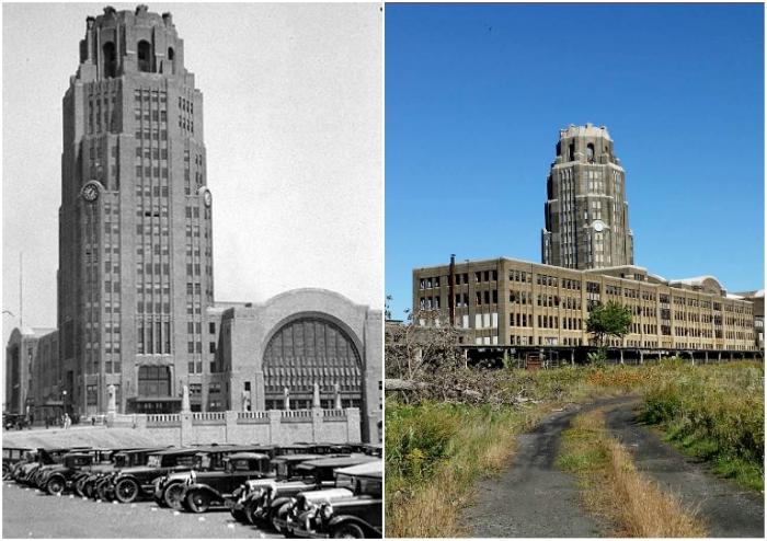 Главный железнодорожный узел Буффало вот уже более 40 лет стоит заброшенным (Buffalo Central Terminal, США).