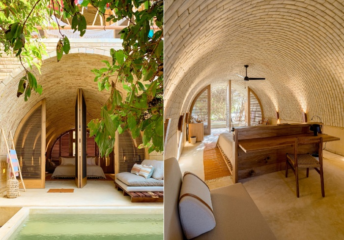 Номера Junior Suite, расположенные на первом этаже, имеют собственный внутренний дворик с террасой и мини-бассейном (Casona Sforza, Мексика).