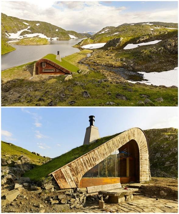 Лесная избушка Hunting Lodge – идеальное место для уединенного отдыха на лоне природе (Норвегия).