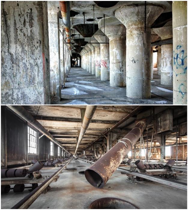 Такое мало где можно увидеть (Red Hook Grain Terminal, Бруклин).
