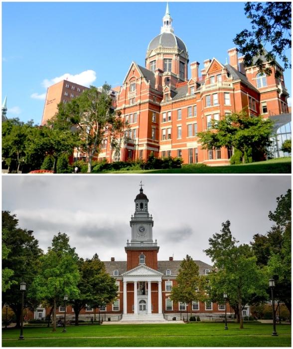 Старинные корпуса Johns Hopkins University – лучший из примеров федерального стиля колониальной архитектуры (Балтимор, США).