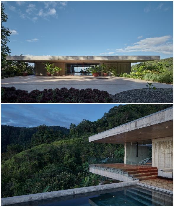 В джунглях Коста-Рики появилась эффектная бетонная вилла (Art Villa).