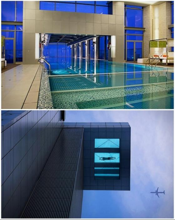 Если хватит смелости, можно поплавать и над деловым кварталом Шанхая (Holiday Inn Shanghai Pudong Kangpiao, Китай).