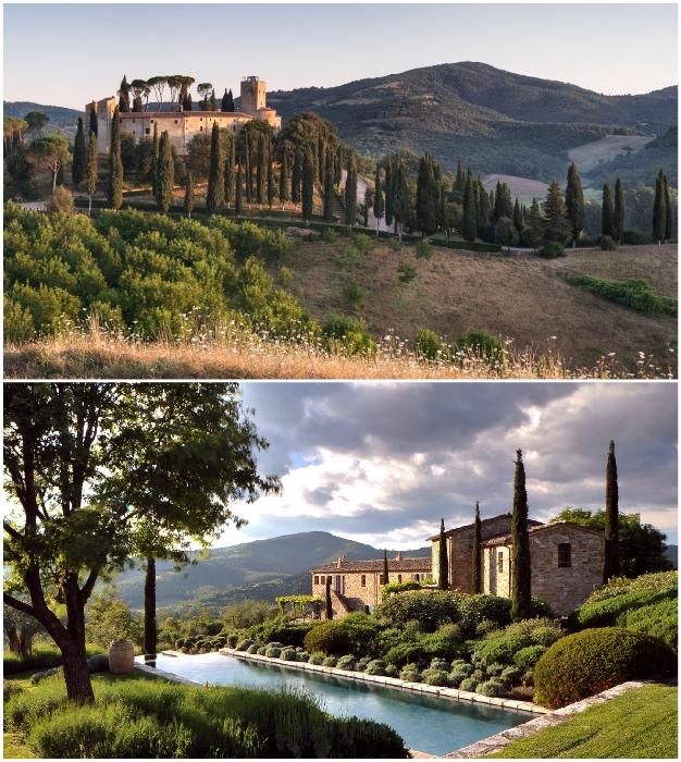 Среди живописных холмов Умбрии расположено старинное поместье Castello Di Reschio, которое вернула к жизни семья Больца (Италия).
