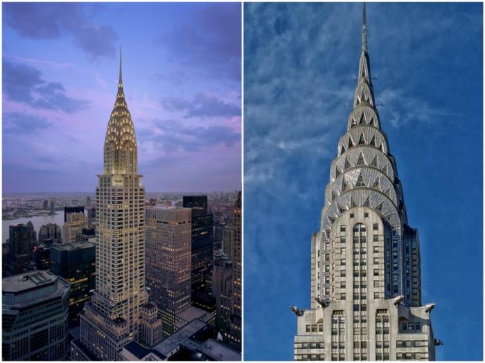 Chrysler Building — самый красивый и помпезный небоскреб Нью-Йорка (США).