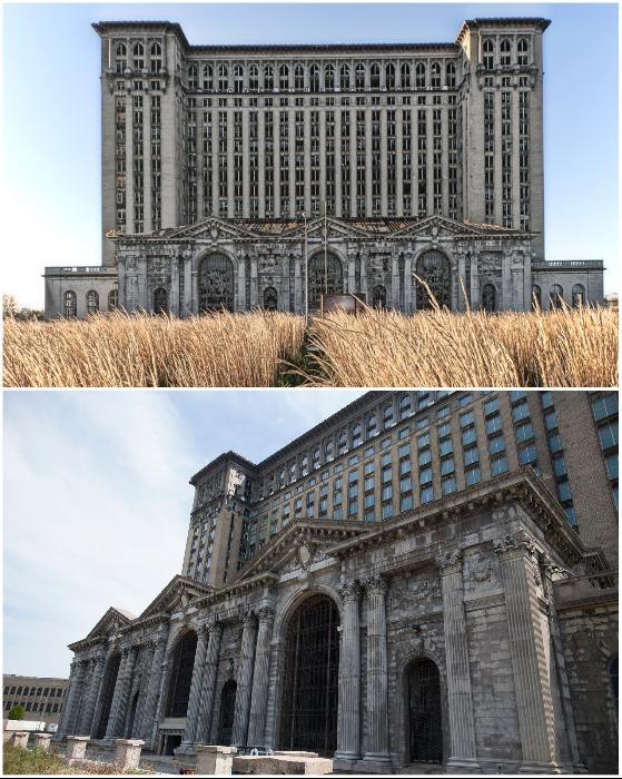 Вот, во что превратился Центральный транспортный узел Детройта за 30 лет запустения (штат Мичиган, США).