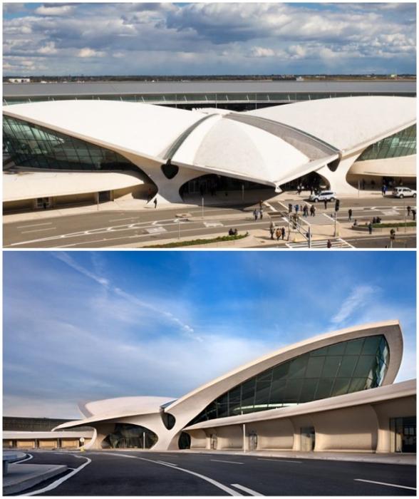 TWA Flight Center – одна из самых знаковых работ Ээро Сааринена (Нью-Йорк, США).